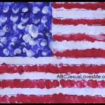 Craft:  Fingerprint Flag