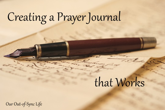 Creating a quiet time prayer journal that works our out of sync life creating a prayer journal that works fandeluxe Gallery