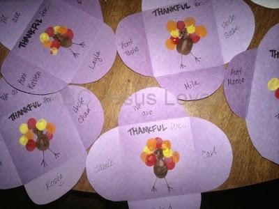 Thanksgiving Fingerprint Card