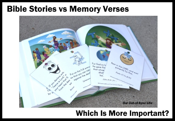 Bible stories vs memory verses which is more important giveaway which is more importantthe bible story or memory verse fandeluxe Image collections