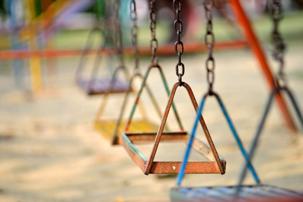 swings on a swingset