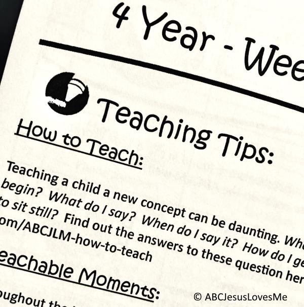 ABCJesusLovesMe 4 Year Curriculum