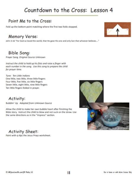ABCJesusLovesMe Easter Workbook Example Page