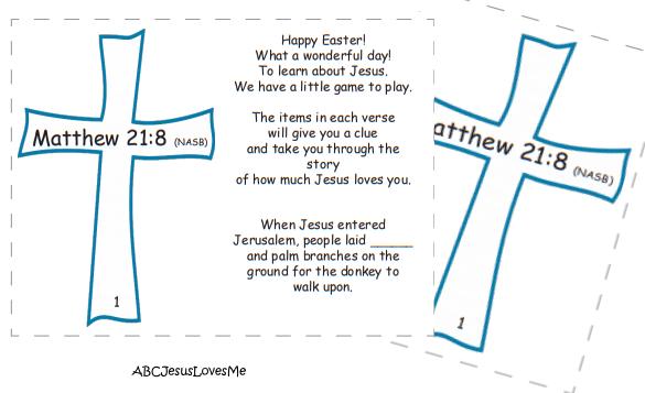 ABCJesusLovesMe Easter Treasure Hunt